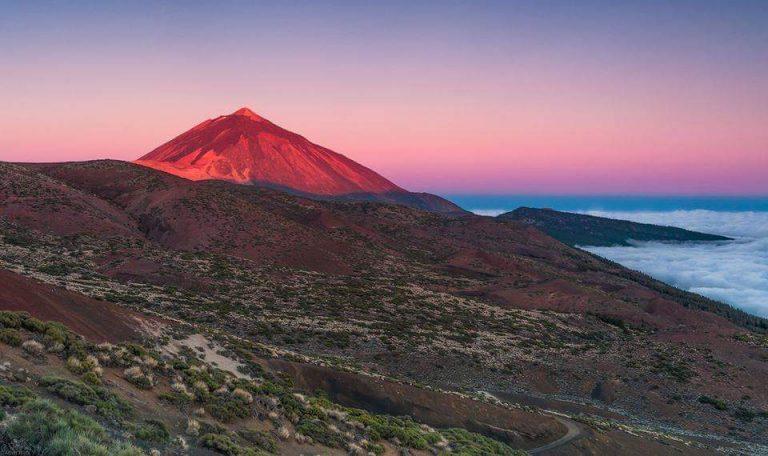 הר טיידה בשקיעה